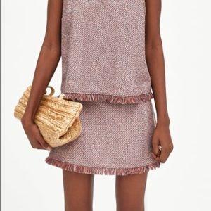 NWT Zara Tweed Mini Skirt